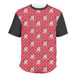 Pirate & Dots Men's Crew T-Shirt (Personalized)