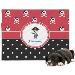 Pirate & Dots Minky Dog Blanket - Large  (Personalized)