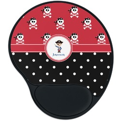 Pirate & Dots Mouse Pad with Wrist Support