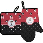 Pirate & Dots Oven Mitt & Pot Holder (Personalized)