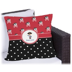 Pirate & Dots Outdoor Pillow (Personalized)