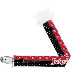 Pirate & Dots Pacifier Clips (Personalized)