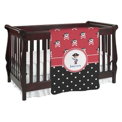Pirate & Dots Baby Blanket (Personalized)