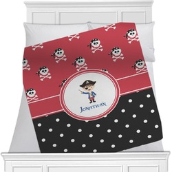 "Pirate & Dots Fleece Blanket - Twin / Full - 80""x60"" - Double Sided (Personalized)"