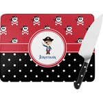 Pirate & Dots Rectangular Glass Cutting Board (Personalized)