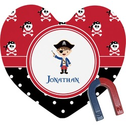 Pirate & Dots Heart Fridge Magnet (Personalized)