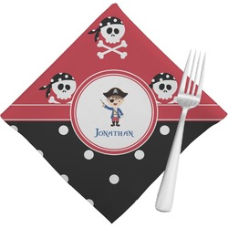 Pirate & Dots Cloth Napkins (Set of 4) (Personalized)