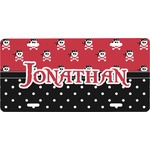 Pirate & Dots Front License Plate (Personalized)