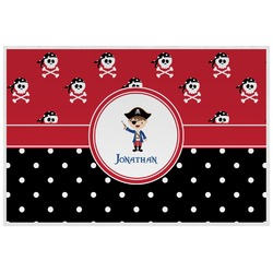Pirate & Dots Placemat (Laminated) (Personalized)