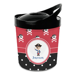 Pirate & Dots Plastic Ice Bucket (Personalized)