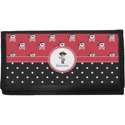 Pirate & Dots Canvas Checkbook Cover (Personalized)