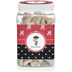 Pirate & Dots Pet Treat Jar (Personalized)