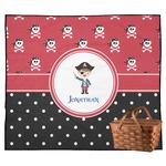 Pirate & Dots Outdoor Picnic Blanket (Personalized)