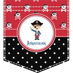 Pirate & Dots Iron On Faux Pocket (Personalized)