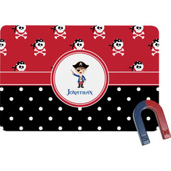 Pirate & Dots Rectangular Fridge Magnet (Personalized)