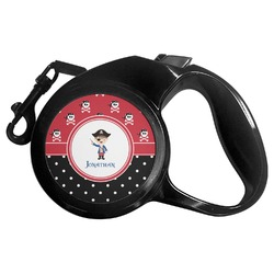 Pirate & Dots Retractable Dog Leash (Personalized)