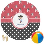 Pirate & Dots Round Beach Towel (Personalized)
