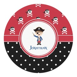 Pirate & Dots Round Decal (Personalized)