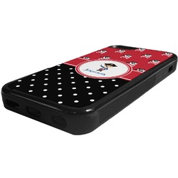 Pirate & Dots Rubber iPhone 5C Phone Case (Personalized)
