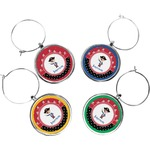 Pirate & Dots Wine Charms (Set of 4) (Personalized)