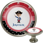 Pirate & Dots Cabinet Knob (Silver) (Personalized)