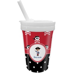 Pirate & Dots Sippy Cup with Straw (Personalized)