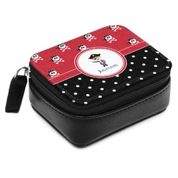 Pirate & Dots Small Leatherette Travel Pill Case (Personalized)