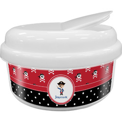 Pirate & Dots Snack Container (Personalized)