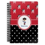 Pirate & Dots Spiral Bound Notebook (Personalized)