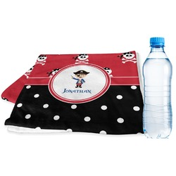 Pirate & Dots Sports & Fitness Towel (Personalized)
