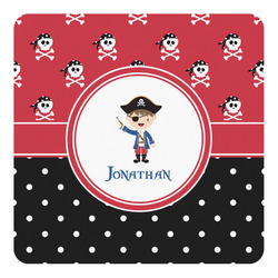 Pirate & Dots Square Decal - Custom Size (Personalized)