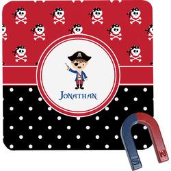 Pirate & Dots Square Fridge Magnet (Personalized)
