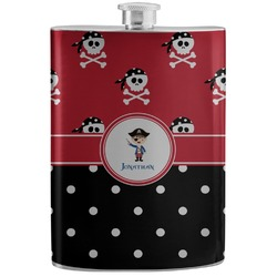 Pirate & Dots Stainless Steel Flask (Personalized)
