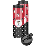 Pirate & Dots Stainless Steel Skinny Tumbler (Personalized)