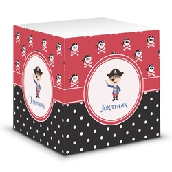 Pirate & Dots Sticky Note Cube (Personalized)