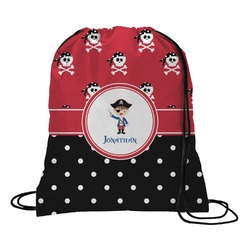 Pirate & Dots Drawstring Backpack (Personalized)