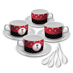 Pirate & Dots Tea Cup - Set of 4 (Personalized)