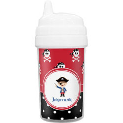 Pirate & Dots Toddler Sippy Cup (Personalized)