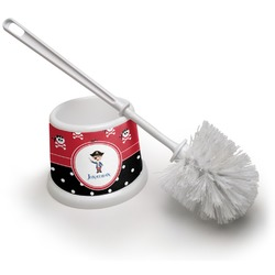 Pirate & Dots Toilet Brush (Personalized)
