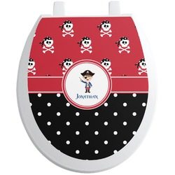 Pirate & Dots Toilet Seat Decal (Personalized)