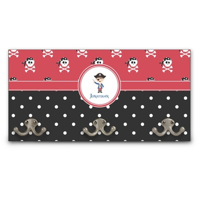 Pirate & Dots Wall Mounted Coat Rack (Personalized)