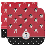 Pirate & Dots Facecloth / Wash Cloth (Personalized)