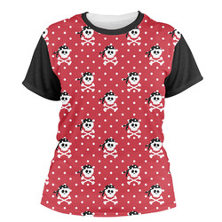 Pirate & Dots Women's Crew T-Shirt (Personalized)