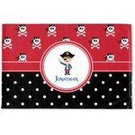 Pirate & Dots Woven Mat (Personalized)