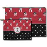 Pirate & Dots Zipper Pouch (Personalized)