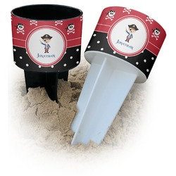 Pirate & Dots Beach Spiker Drink Holder (Personalized)