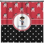 Pirate & Dots Shower Curtain (Personalized)