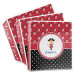 Girl's Pirate & Dots 3-Ring Binder (Personalized)
