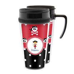 Girl's Pirate & Dots Acrylic Travel Mugs (Personalized)