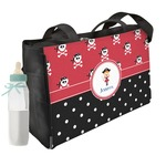 Girl's Pirate & Dots Diaper Bag w/ Name or Text